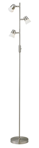 Adesso Inc., - Adesso Vision LED Tree Lamp in Satin Steel - 3273-22