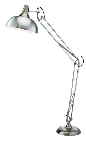 Adesso Inc., - Adesso Atlas One Light Floor Lamp in Satin Steel - 3366-22