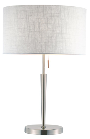 Image of Adesso Hayworth Table Lamp in Satin Steel