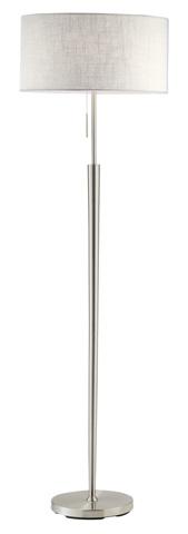 Adesso Inc., - Adesso Hayworth Floor Lamp in Satin Steel - 3457-22