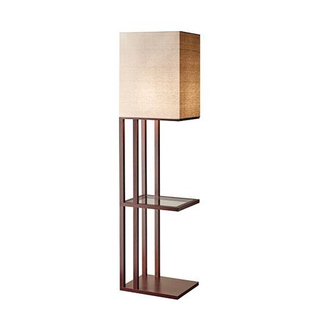 Adesso Inc., - Adesso Baxter One Light Shelf Floor Lamp - 3516-15