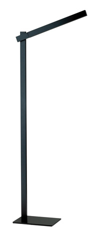 Adesso Inc., - Adesso Reach One Light LED Floor Lamp in Black - 3654-01
