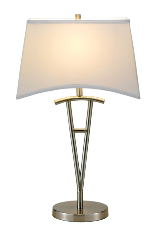 Image of Adesso Taylor One Light Table Lamp in Satin Steel