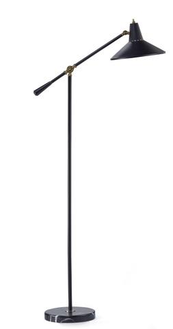Adesso Inc., - Adesso Nelson One Light Floor Lamp in Black - 3682-01