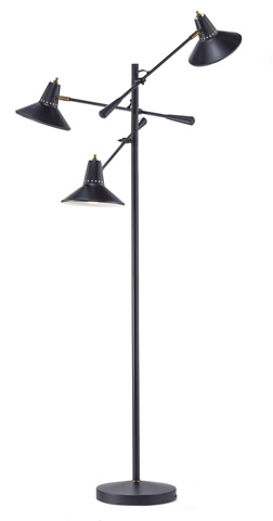 Adesso Inc., - Adesso Nelson Three Light Three Arm Floor Lamp - 3683-01