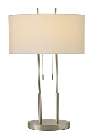 Adesso Inc., - Adesso Duet Two Light Table Lamp in Satin Steel - 4015-22
