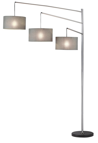 Adesso Inc., - Adesso Wellington Arc Lamp in Satin Steel - 4255-22