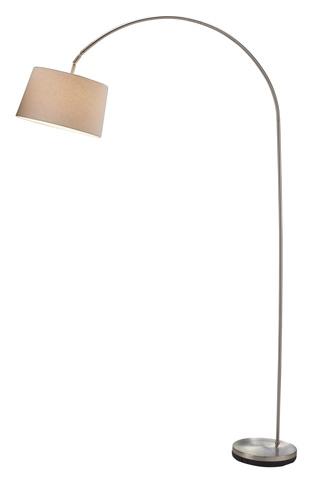 Adesso Inc., - Adesso Goliath One Light Arc Lamp in Satin Steel - 5098-22