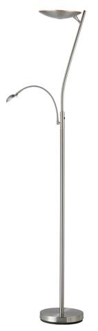Adesso Inc., - Adesso Mercury LED Combo Torchiere in Satin Steel - 5137-22