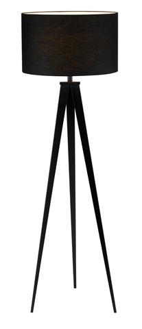 Adesso Inc., - Adesso Director One Light Floor Lamp in Black - 6424-01