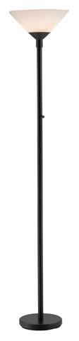 Adesso Inc., - Adesso Aries Two Light Torchiere in Black - 7500-01