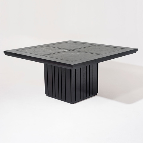 Adriana Hoyos - Grafito Square Dining Table - GT04-121Q
