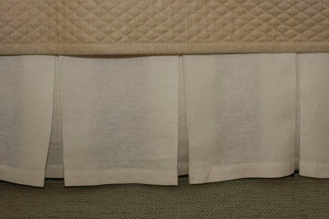 Image of Linen Box Pleat Skirt