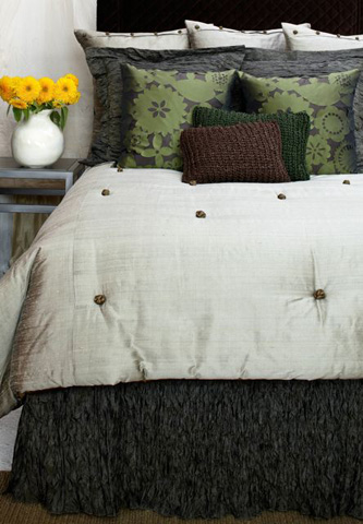 Image of Dupione French Knot Coverlet