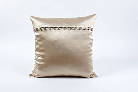 Image of Charmeuse Pillow with Crystal Buttons