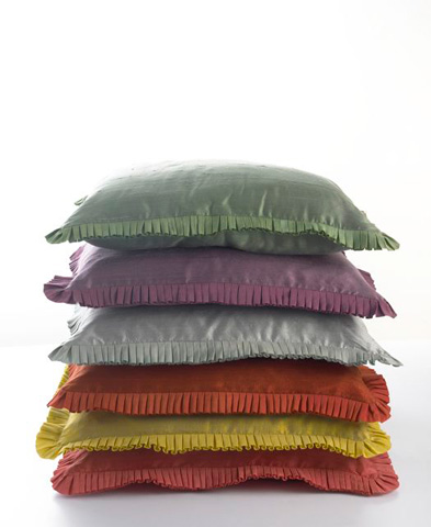 Ann Gish - Dupione Pillow with Pleat Trim - PWDU1818