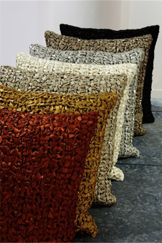 Ann Gish - Ribbon Knit Pillow - PWRI2020