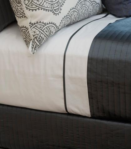 Ann Gish - Cotton Sheet Set with Charmeuse Trim - SSCSKTR