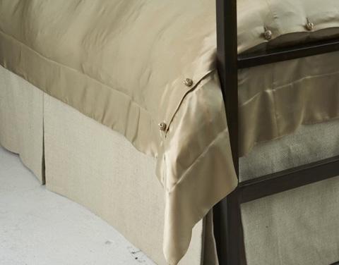 Ann Gish - Basketweave Tailored Bed Skirt - TSBACK