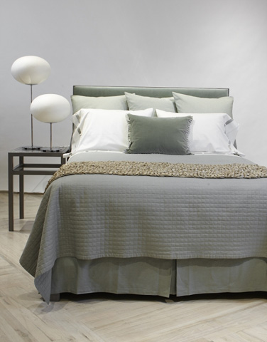 Image of Linen Cotton Ready-To-Bed Tailored Bed Skirt