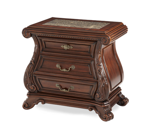 Image of Three Drawer Bedside Storage Chest