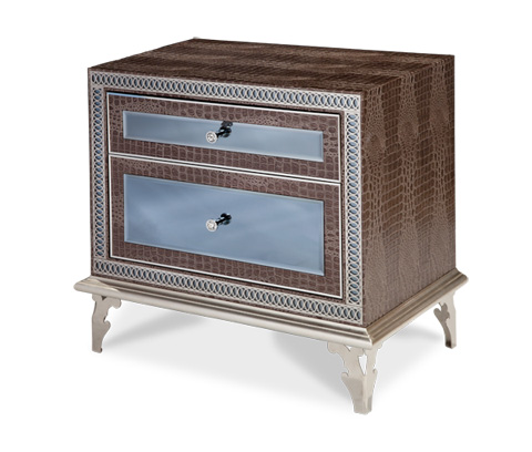 Image of Decorative Mirrored Nightstand