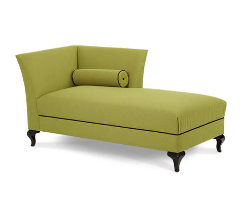 Image of Left Arm Facing Green Chaise Lounge