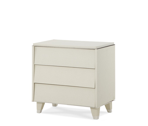 Image of Pearl Caviar Upholstered Nightstand