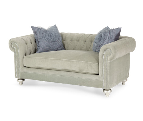 Michael Amini - Tufted Back Loveseat - 03825-PLTNM-05