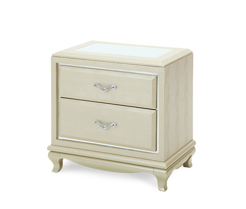 Image of Pearl Croc Nightstand