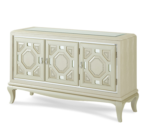 Image of Pearl Croc Console Cabinet