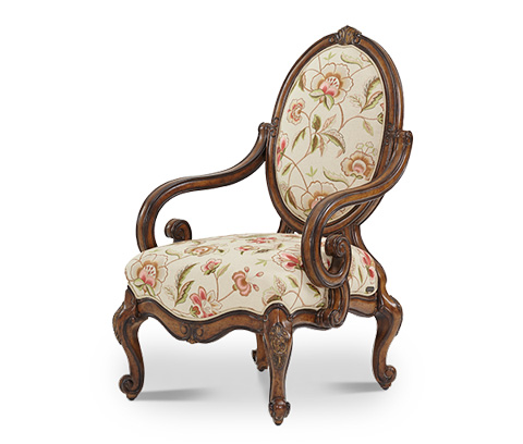 Image of Oval Back Wood Chair