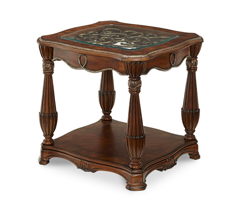 Image of Glass Top End Table