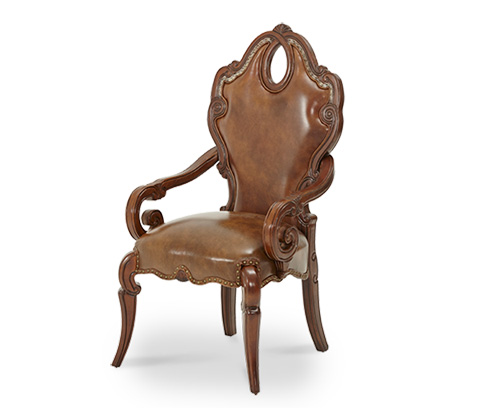 Michael Amini - Leather Seat Arm Chair - 57444N-51