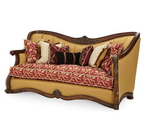 Image of Wood Trim Channel Back Sofa