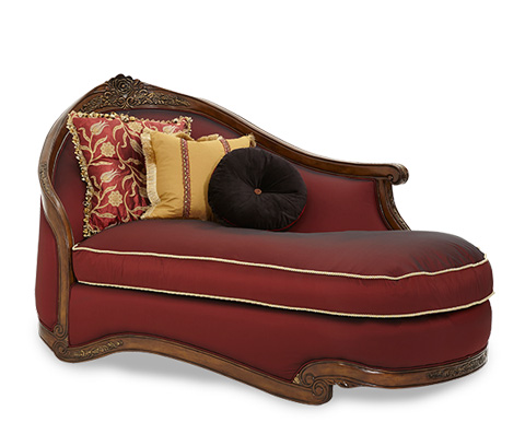 Image of Wood Trim Left Arm Facing Chaise