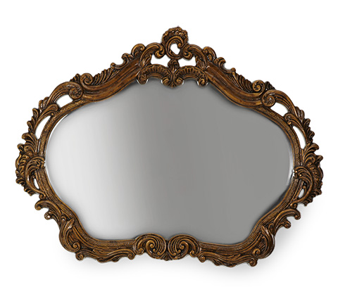 Image of Gold Leafed Sideboard Mirror