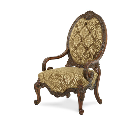 Image of Fabric Wood Chair