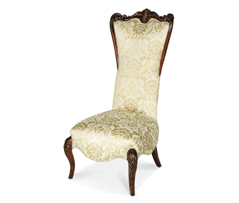 Image of High Back Wood Trim Chair
