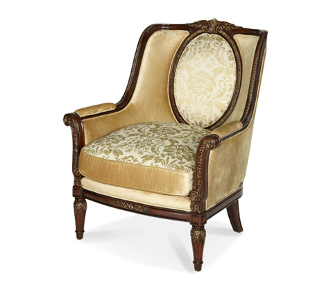 Michael Amini - Wood Trim Chair - 79835-CHPGN-40