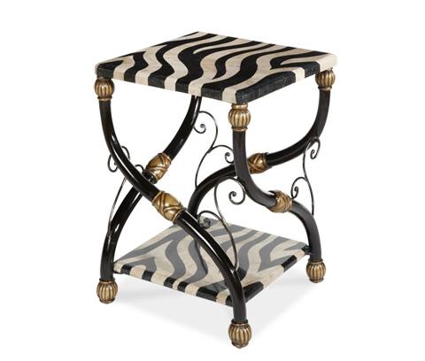 Michael Amini - Zebra Accent Table - ACF-ACT-CARO-016