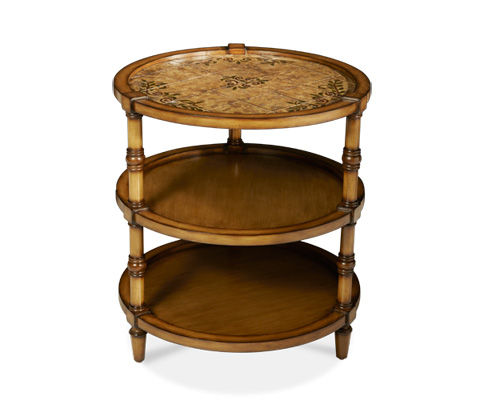 Michael Amini - Three Tier Round Accent Table - ACF-ACT-KNYA-022