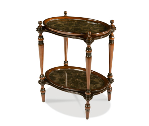 Michael Amini - Rubber Leaf Accent Tray Table - ACF-ACT-MNSR-013