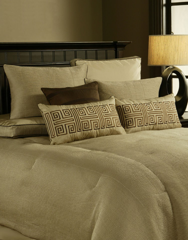 Michael Amini - Crescent Heights Ten Piece King Comforter Set - BCS-KS10-CRSNTH-CMP
