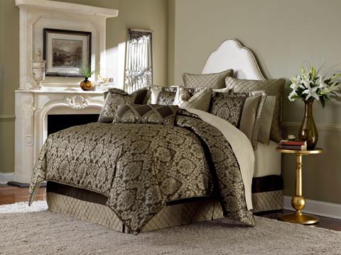 Michael Amini - Imperial Ten Piece King Comforter Set - BCS-KS10-IMPERL-BRZ
