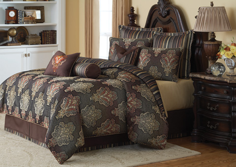 Image of Sienna Ten Piece King Comforter Set