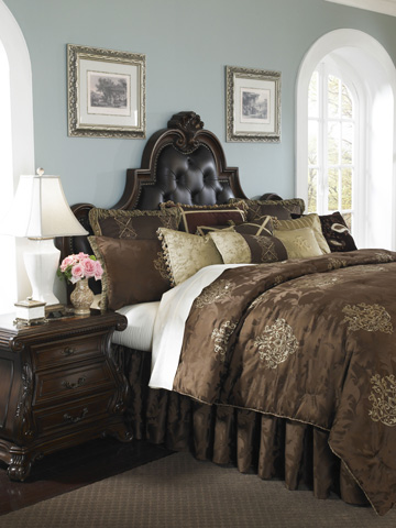 Michael Amini - Highgate Manor Thirteen Piece King Comforter Set - BCS-KS13-HIGATE-CHO