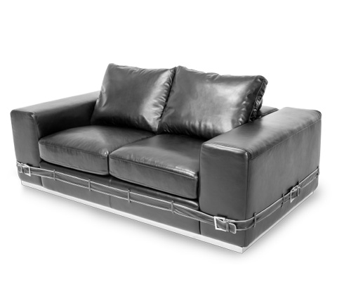 Image of Ciras Leather Loveseat