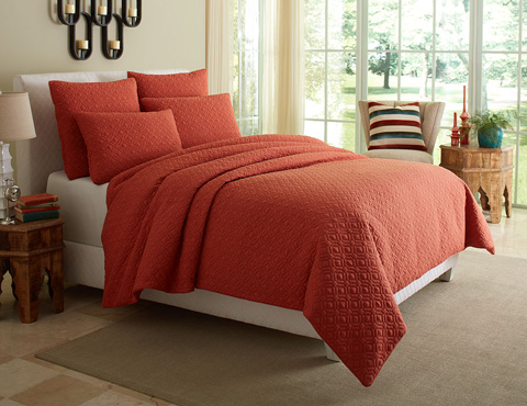 Michael Amini - Fillmore Five Piece King Duvet Set - BCS-KD05-FLMOR-COR