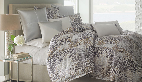 Michael Amini - Jaxon Ten Piece King Comforter Set - BCS-KS10-JAXON-MIST